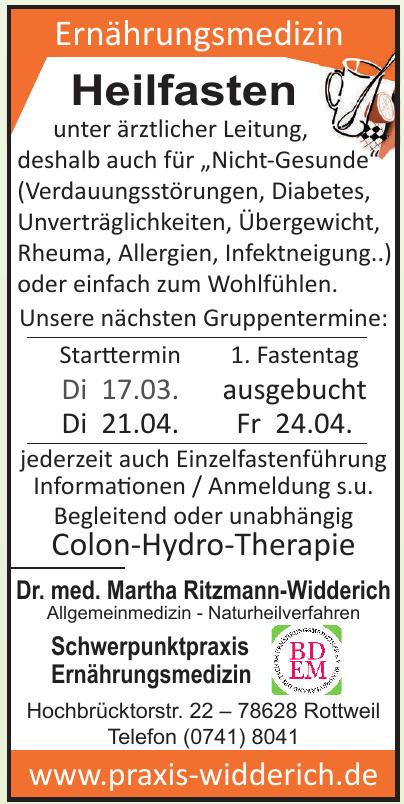 Dr. med. Martha Ritzmann-Widderich