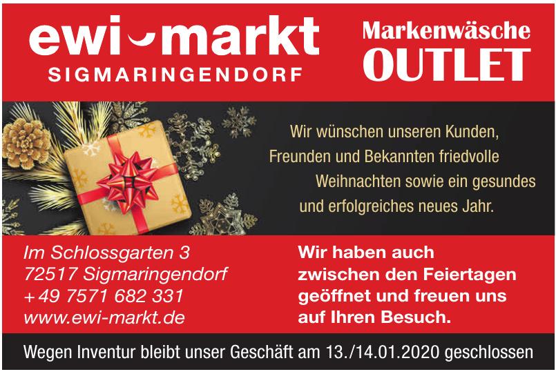 ewi markt Markenwäsche Outlet