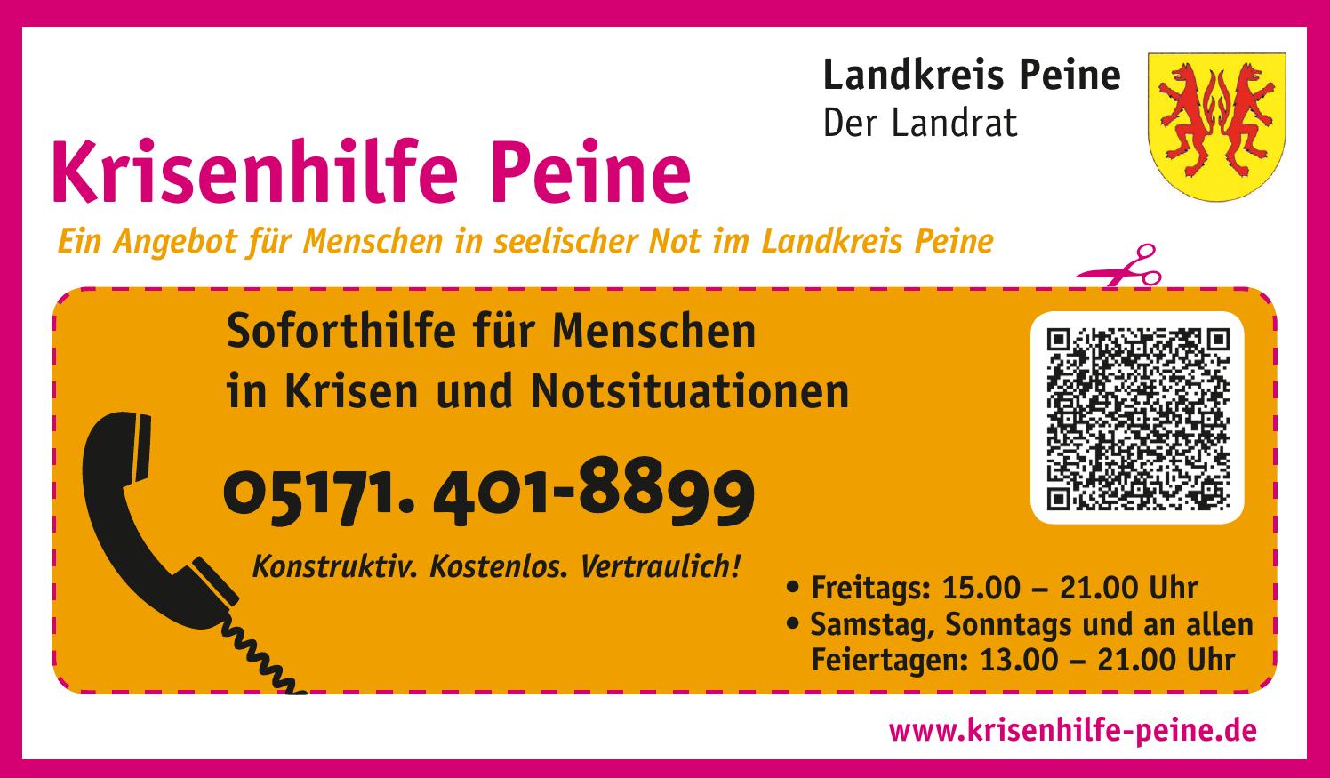 Krisenhilfe Peine - Landkreis Peine, Der Landrat