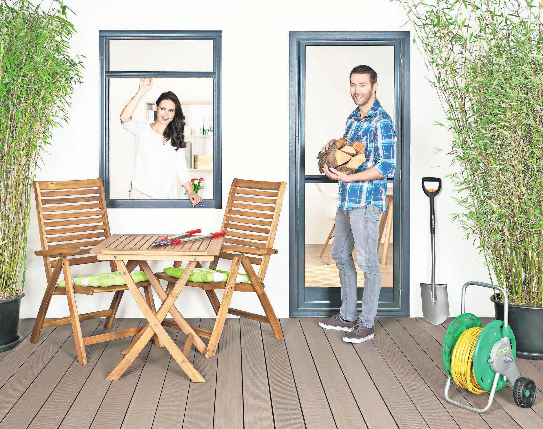 Mit Krüger Insektenschutz kommen Luft und Licht, aber keine Störenfriede ins Haus.
