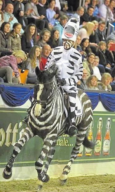 2018 startete Ingrid Klimke beim Kostümspringen im Zebra-Look. Und diesmal?