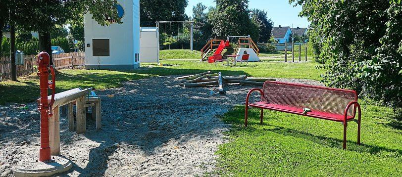 Weitgehend fertiggestellt ist der Erlebnisspielplatz in Ambach. Fotos: Gemeinde Ehekirchen, Martina Keßler