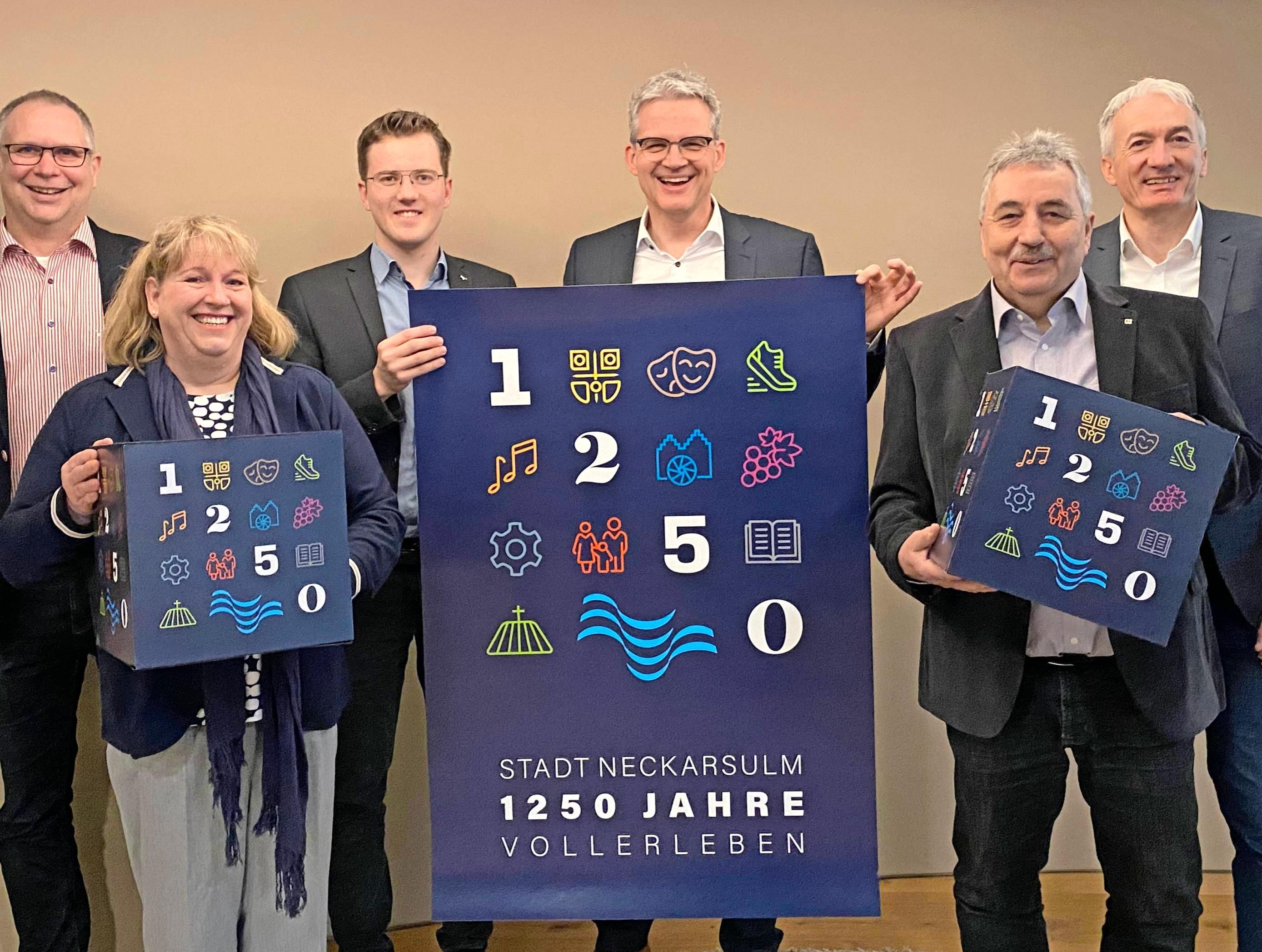 Die Lenkungsgruppe für das Stadtjubiläum 1250 Jahre Neckarsulm. Foto: snp