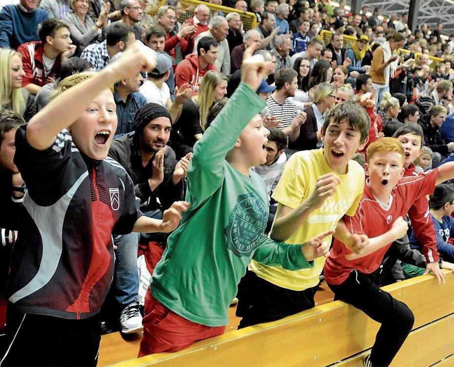 Wird wohl wieder laut in Mössingen: so wie hier 2014 beim TAGBLATT-Turnier. Archivbild: Rippmann