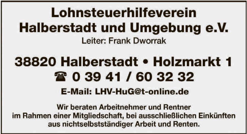 Lohnsteuerhilfeverein Halberstadt und Umgebung e. V.