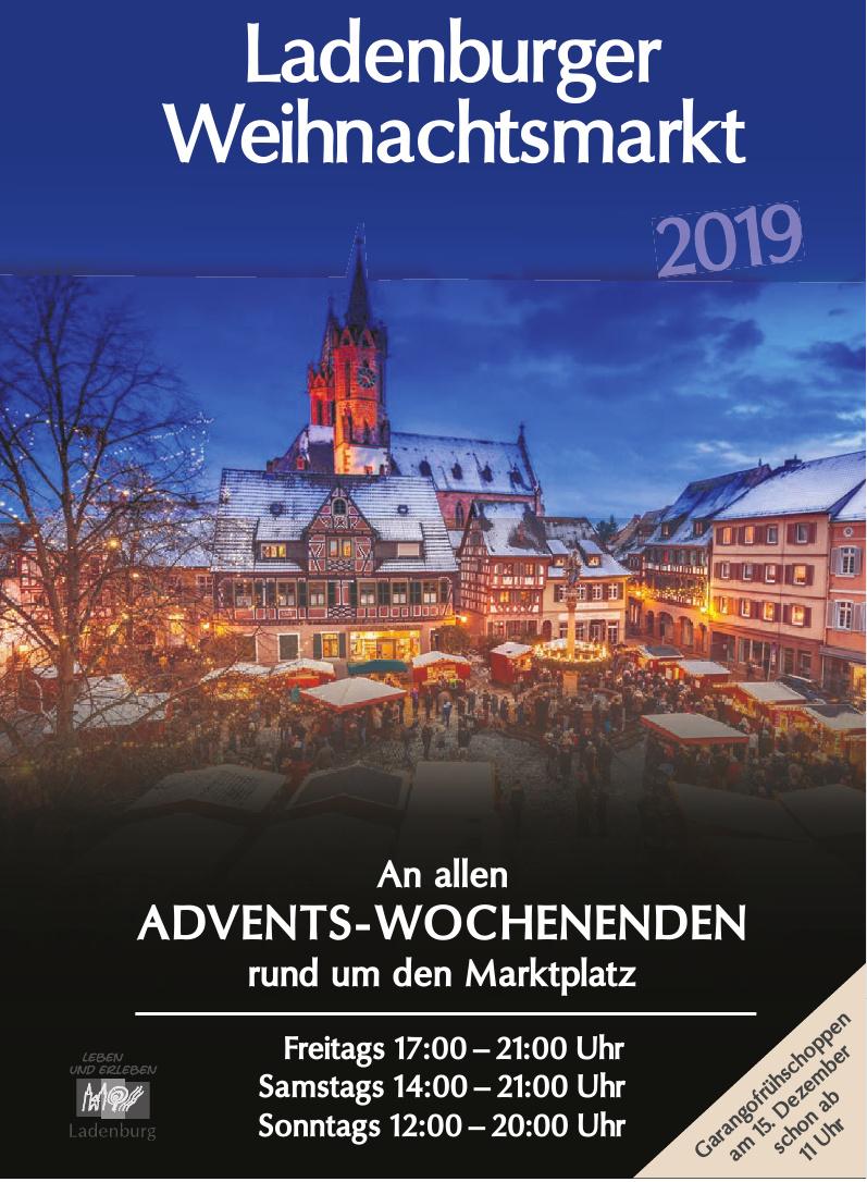 Ladenburger Weihnachtsmarkt 2019