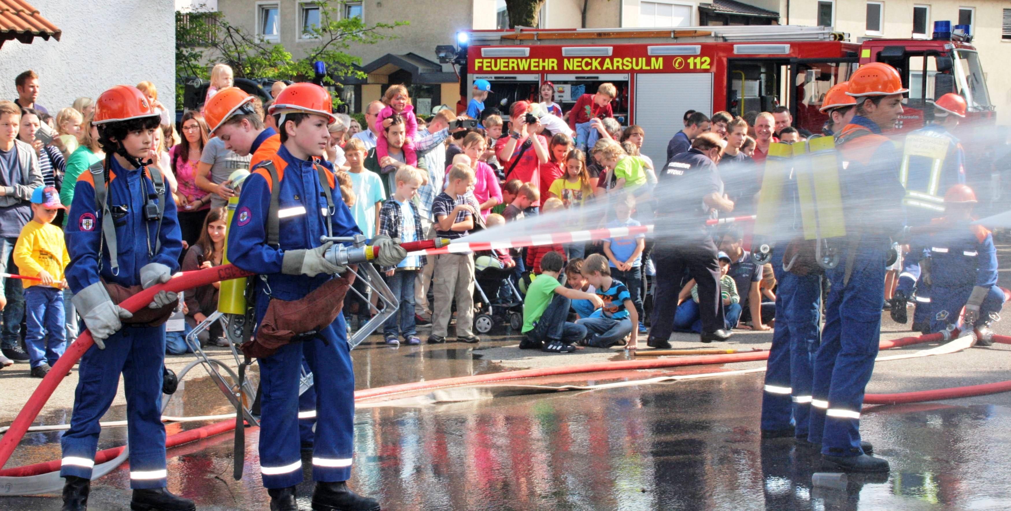 Weil es auch bei der Freiwilligen Feuerwehr immer schwerer wird, ehrenamtlichen Nachwuchs zu finden, werden die Jugendabteilungen Neckarsulm/Dahenfeld und Obereisesheim zusammengelegt. Foto: Archiv/Plückthun