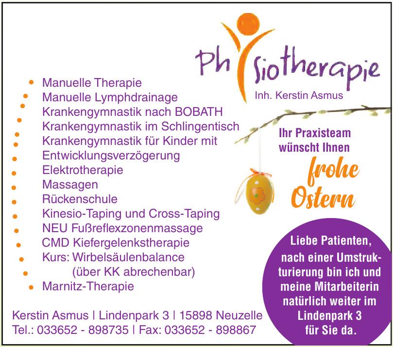 Physiotherapie Kerstin Asmus, Antonio Meusel