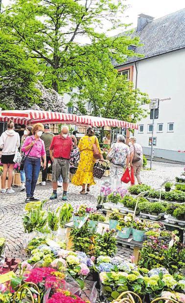Gerade während des Lockdowns waren die Besucher dankbar für den Wochenmarkt.