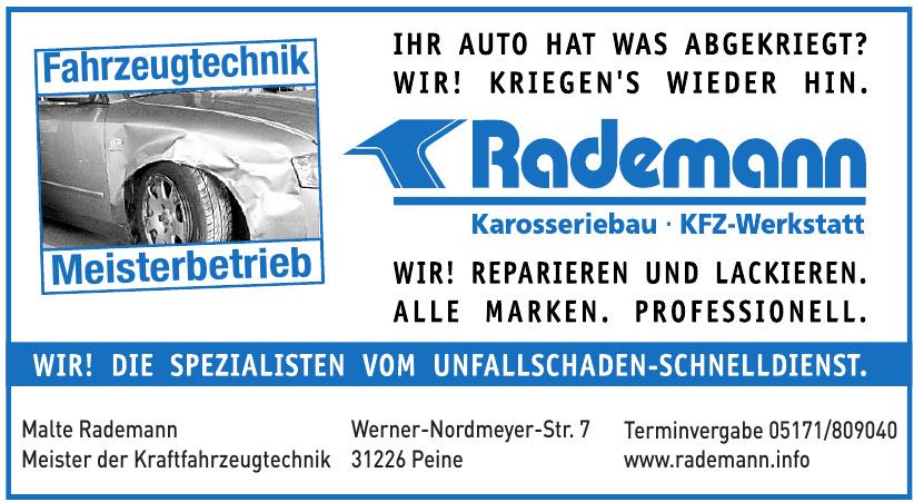 Rademann Karosserie- & Kfz-Meisterwerkstat