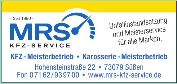 MRS KFZ - Meisterbetrieb
