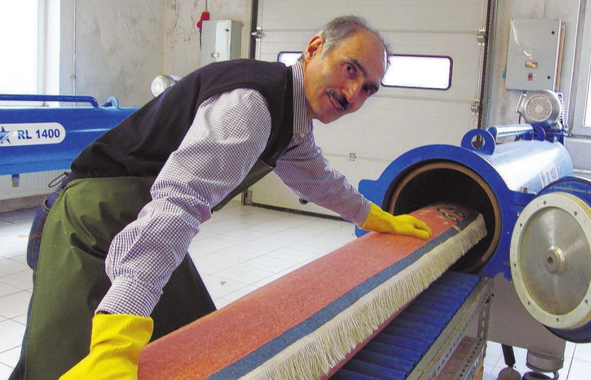 Hamid Kalantari ist Experte im Teppichreinigen Foto: pr