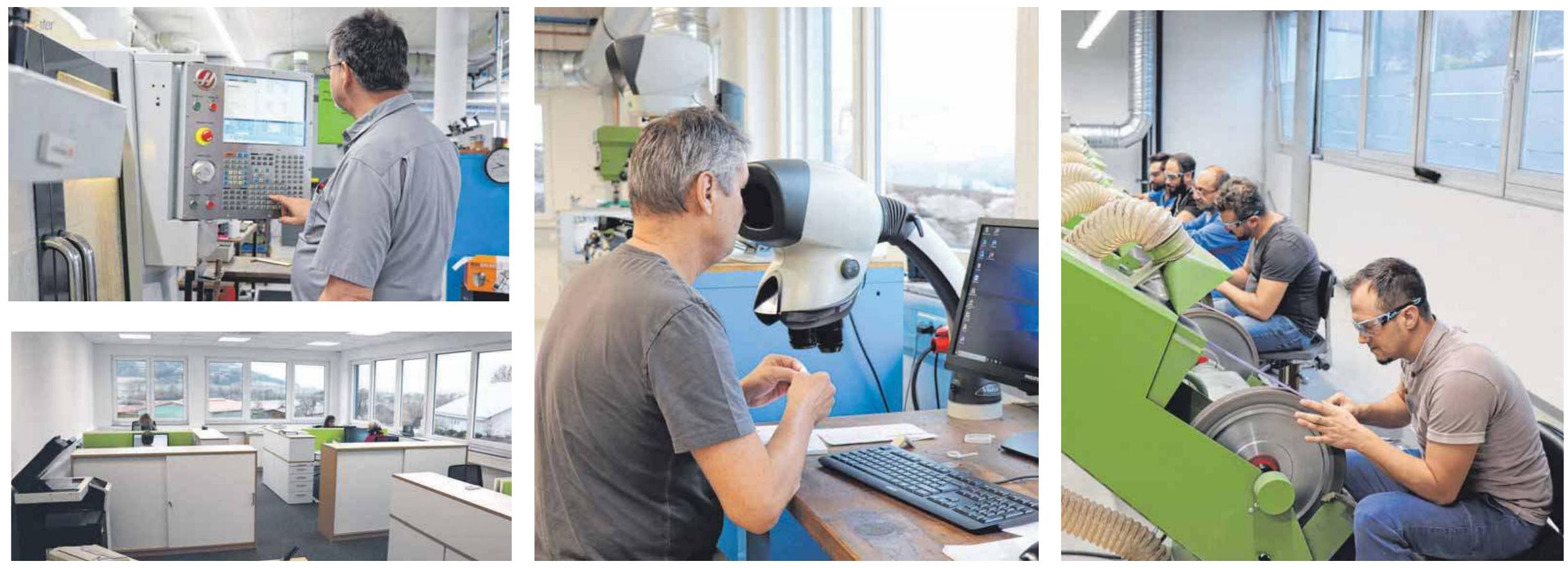 Hochmoderne Arbeitsplätze bietet Rebstock seinen Mitarbeiterinnen und Mitarbeitern - sowohl in der Produktion als auch in der Verwaltung.
