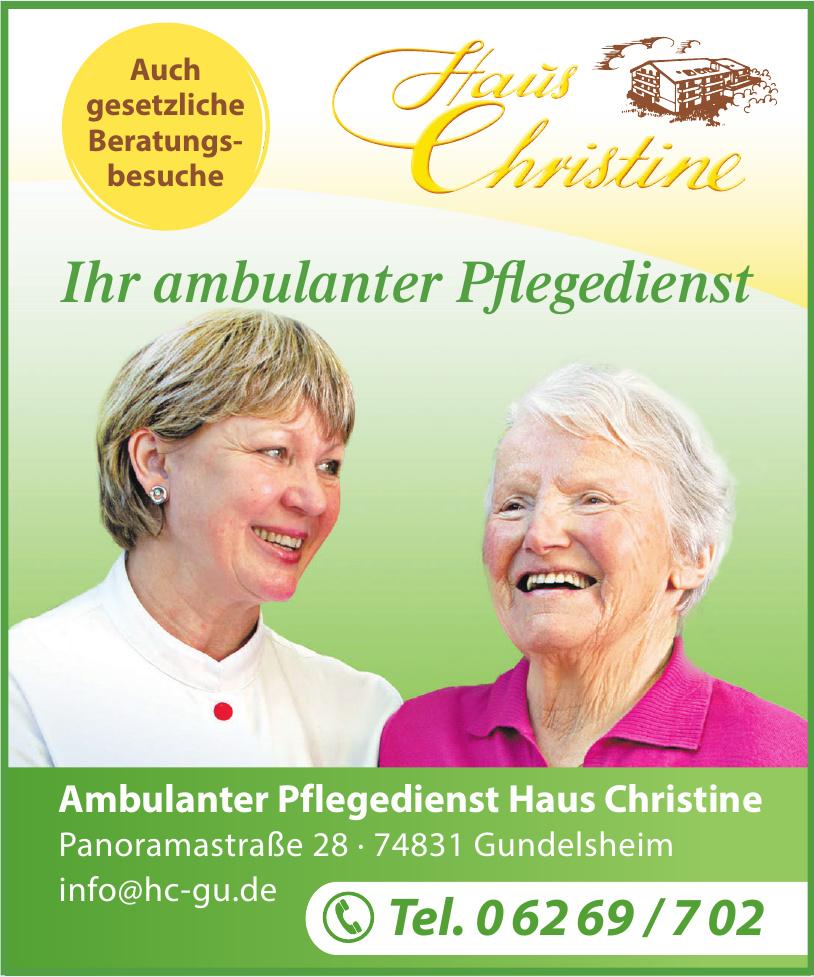 Ambulanter Pflegedienst Haus Christine