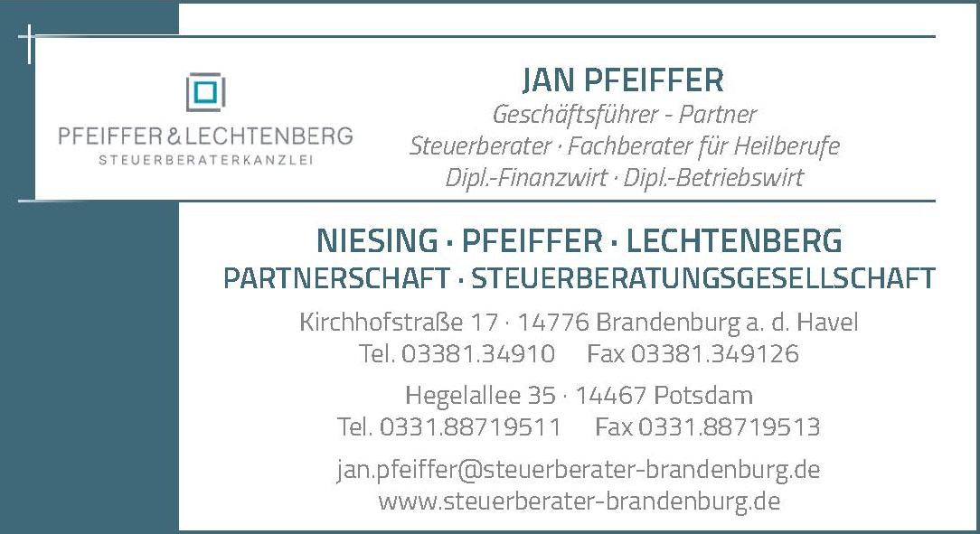 Jan Pfeiffer Geschäftsführer - Partner Steuerberater