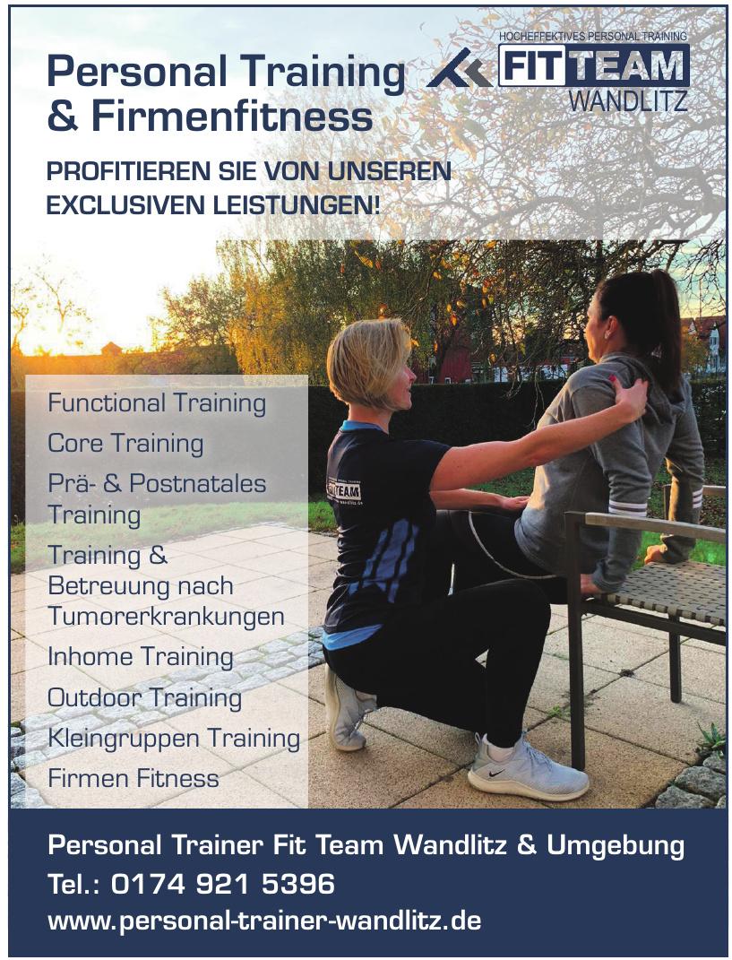 Personal Trainer Fit Team Wandlitz & Umgebung