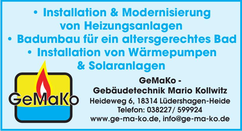 GeMaKo - Gebäudetechnik Mario Kollwitz