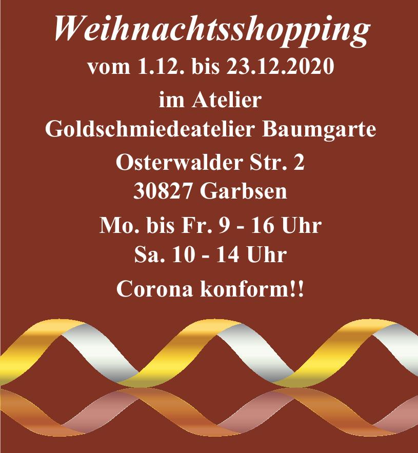 Weihnachtsshopping im Atelier Goldschmiedeatelier Baumgarte