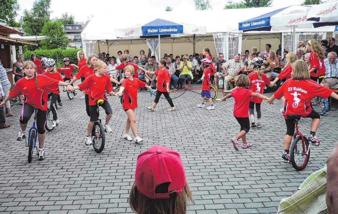 Die Einradkids des GSV haben am Sonntagnachmittag ihren großen Auftritt. Foto: Veranstalter
