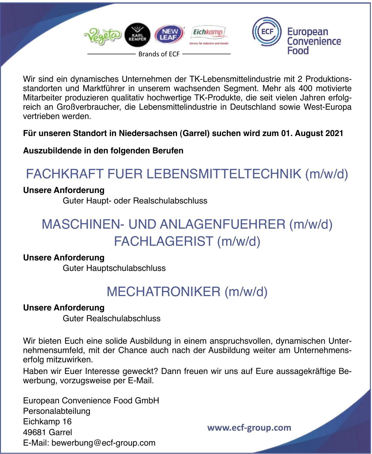 European Convenience Food GmbH