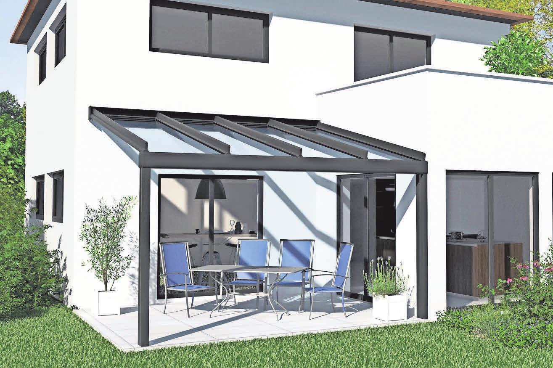 Mit den geschützten Terrassendächern von Ehrhardt lassen sich Frühling und Sommer beliebig verlängern.