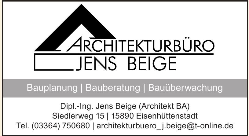 Architekturbüro Jens Beige