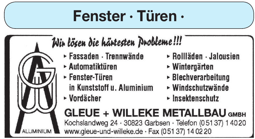 Gleue + Willeke Metallbau GmbH