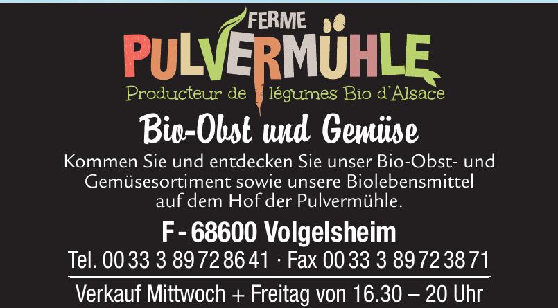 Ferme Pulvermühle Bio-Obst und Gemüse