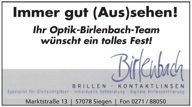 Birlenbach Brillen - Kontaktlinsen