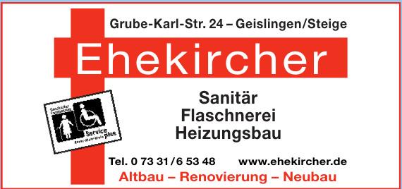 Ehekircher Sanitär, Heizung, Flaschnerei