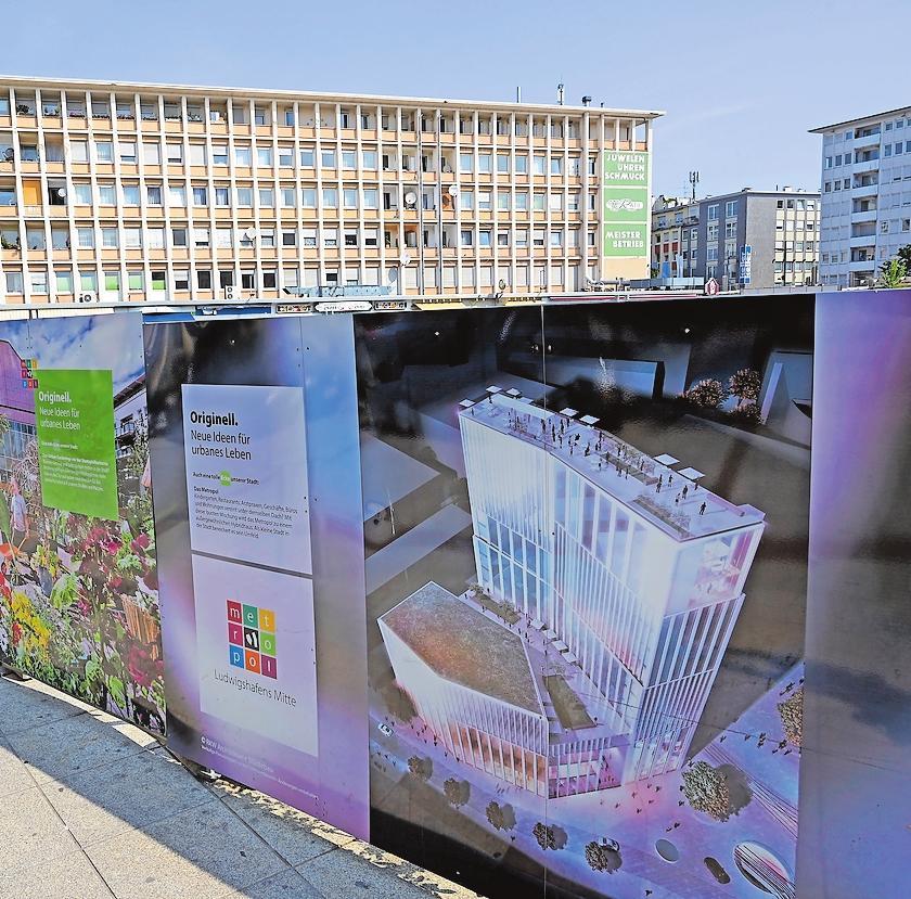 Sorgt für Schlagzeilen: das geplante Hochhaus am Berliner Platz. Aufgabe der Stadt sei es, unterschiedliche Interessen abzuwägen und Lösungsvorschläge zu unterbreiten, sagt Oberbürgermeisterin Jutta Steinruck. ARCHIVFOTO: KUNZ