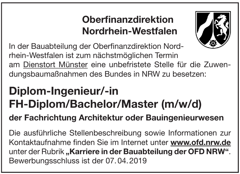 Oberfinanzdirektion Nordrhein-Westfalen