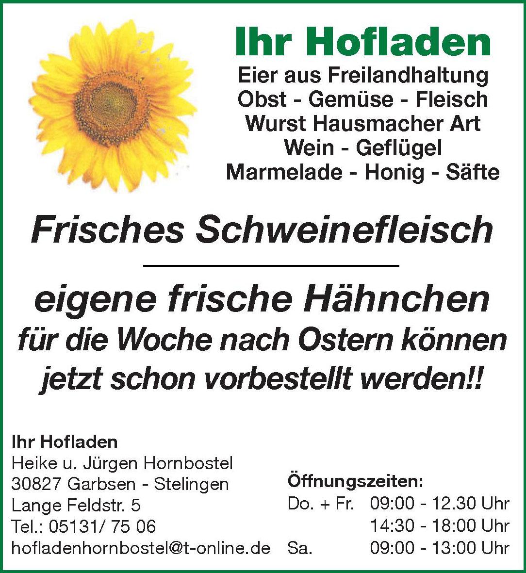 Ihr Hofladen Heike u. Jürgen Hornbostel