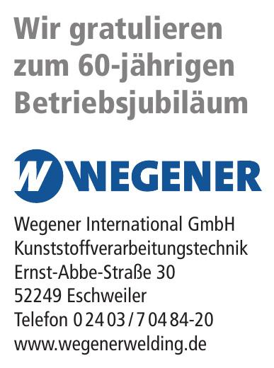 Wegener International GmbH Kunststoffverarbeitungstechnik