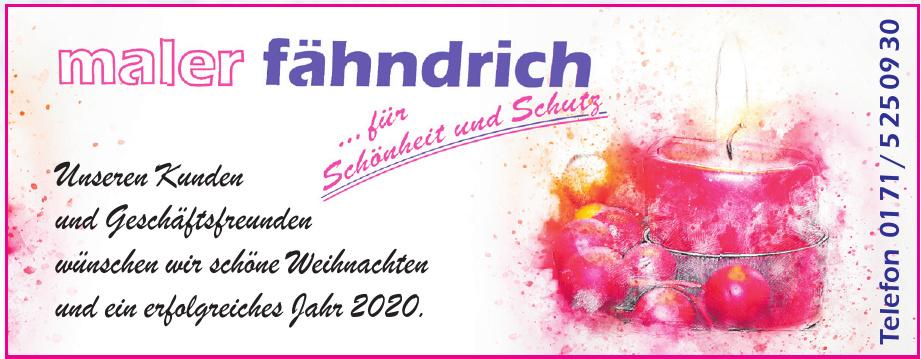 Maler Fähndrich