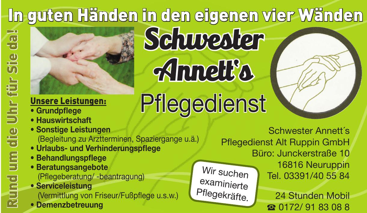 Schwester Annett´s Pflegedienst Alt Ruppin GmbH