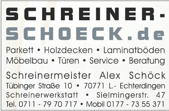 Schreiner Schöck