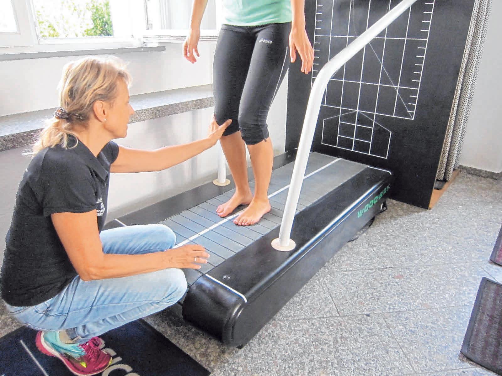Bei Medi-Sport wird auch eine professionell durchgeführte Laufbandanalyse angeboten. FOTO: SZ-ARCHIV