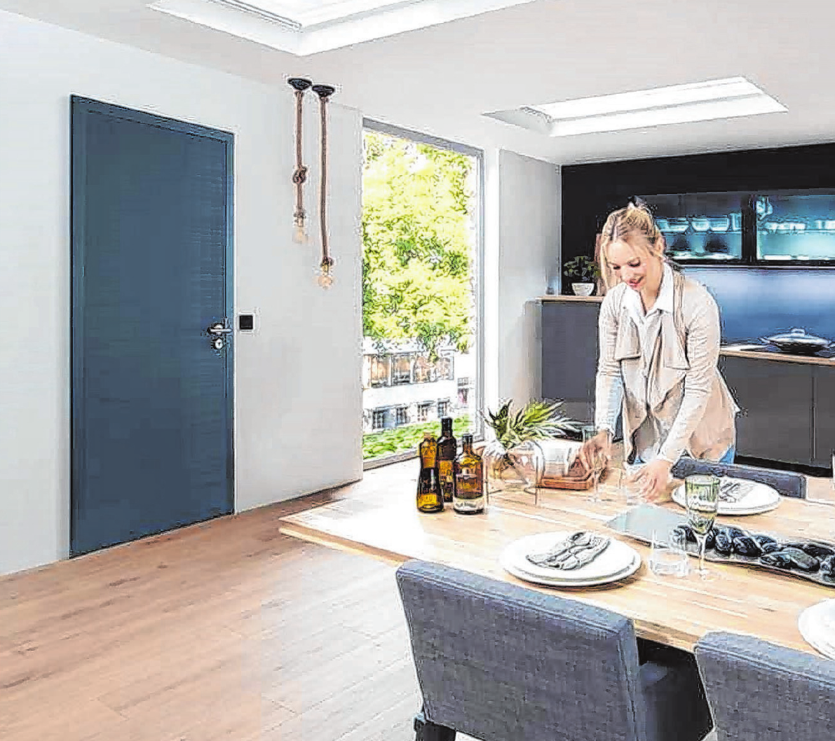 Mehr Individualität für das Zuhause: Bei der Auswahl der Zimmertüren kommt es neben der Funktionalität auch auf das Design an.       Foto: djd/Hörmann