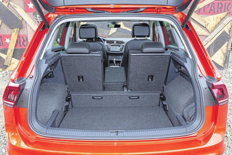 Platz da: Der Tiguan bietet hohe Variabilität und einen großen Kofferraum.