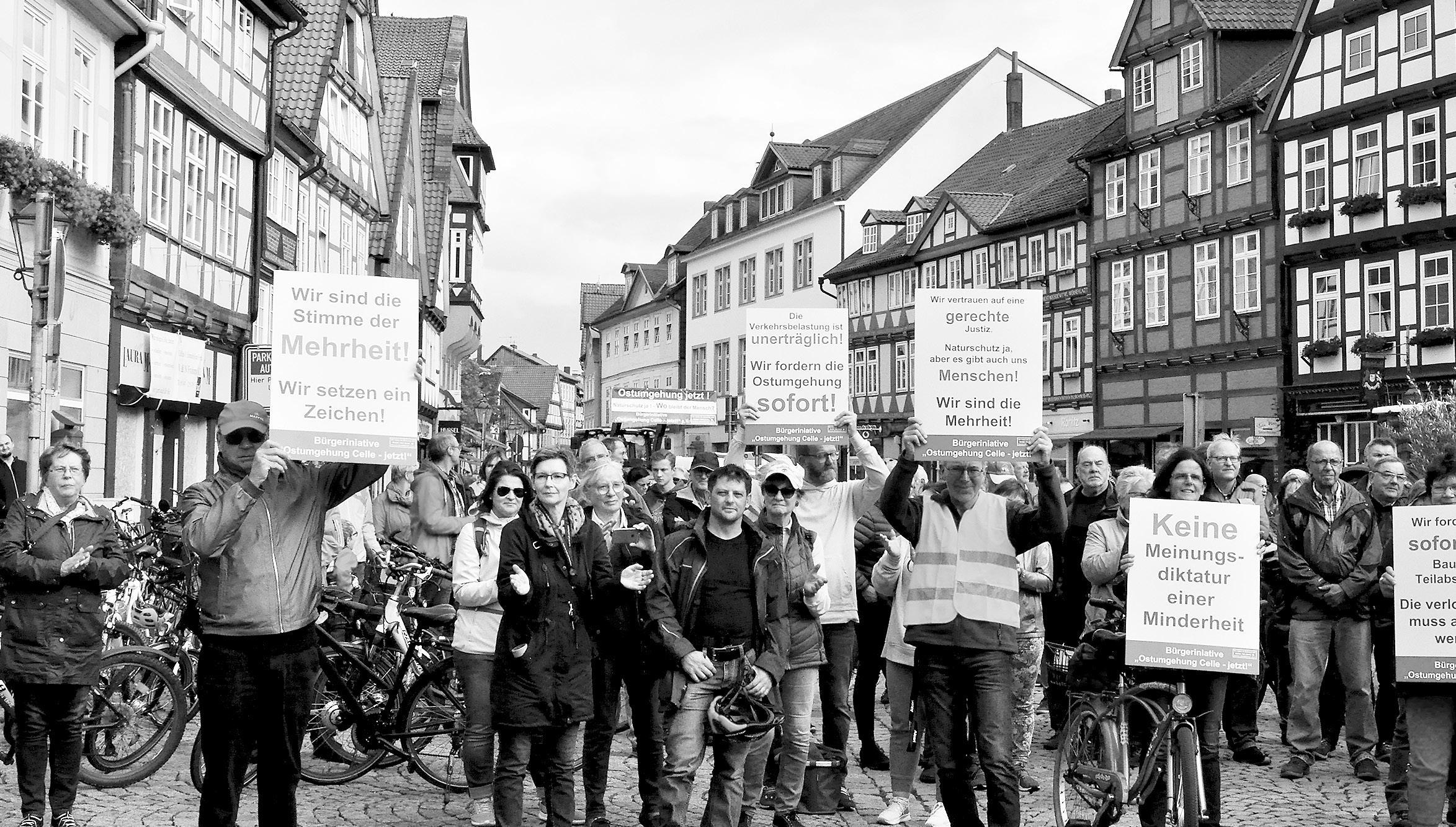 Über 450 Protestler trafen sich auf dem Großen Plan in Celle. Foto: privat