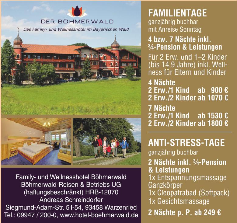 Family- und Wellnesshotel Böhmerwald Böhmerwald-Reisen & Betriebs UG