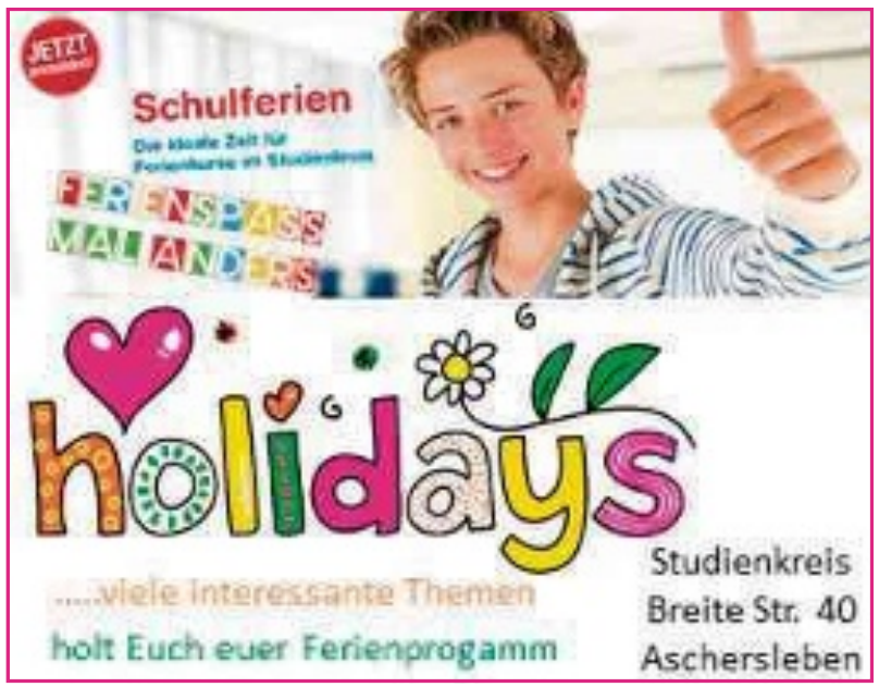 holidays Studienkreis