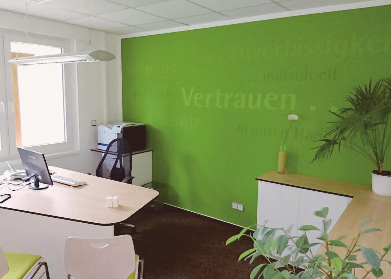 Jeder Mitarbeiter der LVM-Agentur Schiffelholz hat sein eigenes Besprechungszimmer in den modern gestalteten Räumen, die 2017 bezogen wurden. Foto:privat