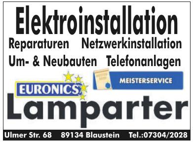 Elektroinstallation Lamparter