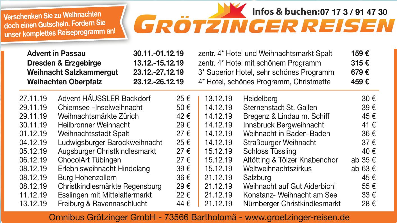 Omnibus Grötzinger GmbH