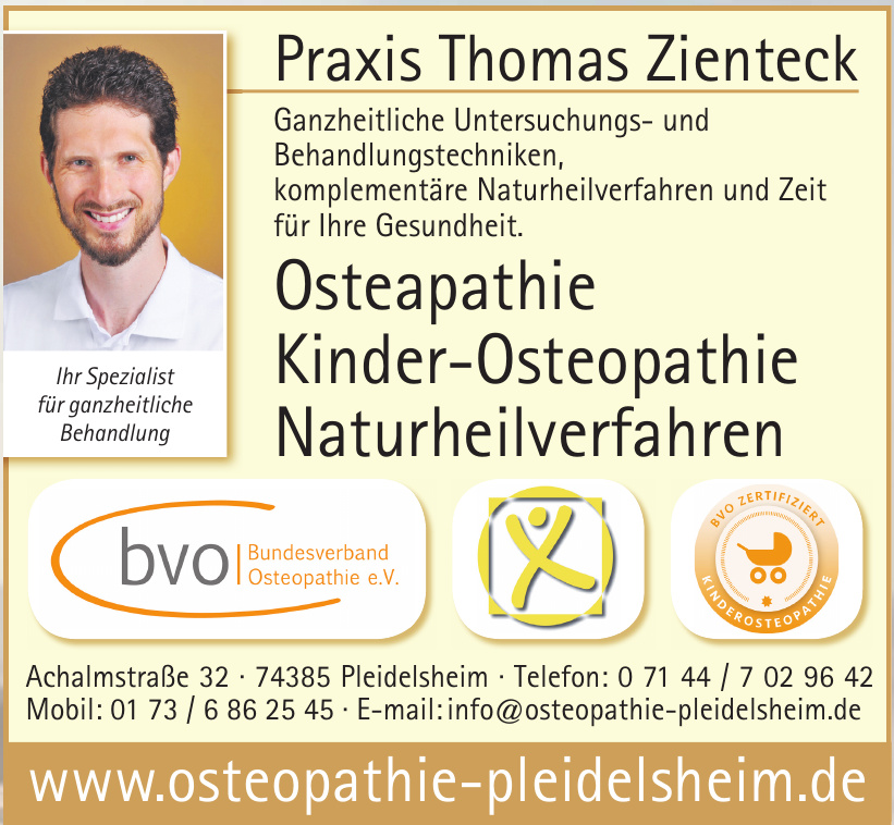 Osteapathie, Kinder-Osteopathie, Naturheilverfahren Thomas Zienteck
