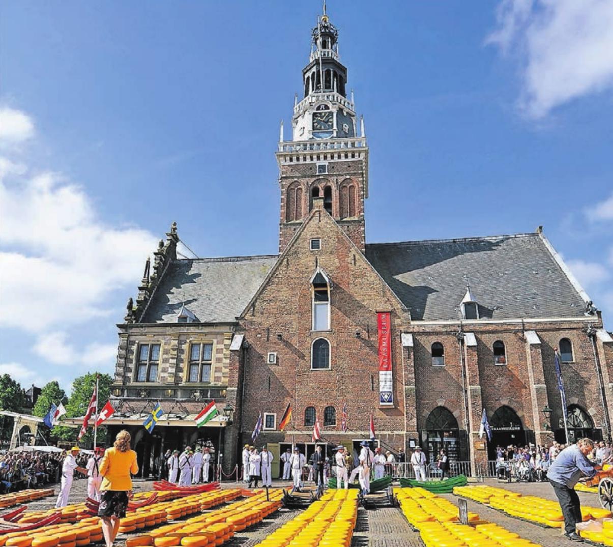 Ausflugsmöglichkeit zum weltberühmten Käsemarkt in Alkmaar. Foto: Aklmaar Marketing