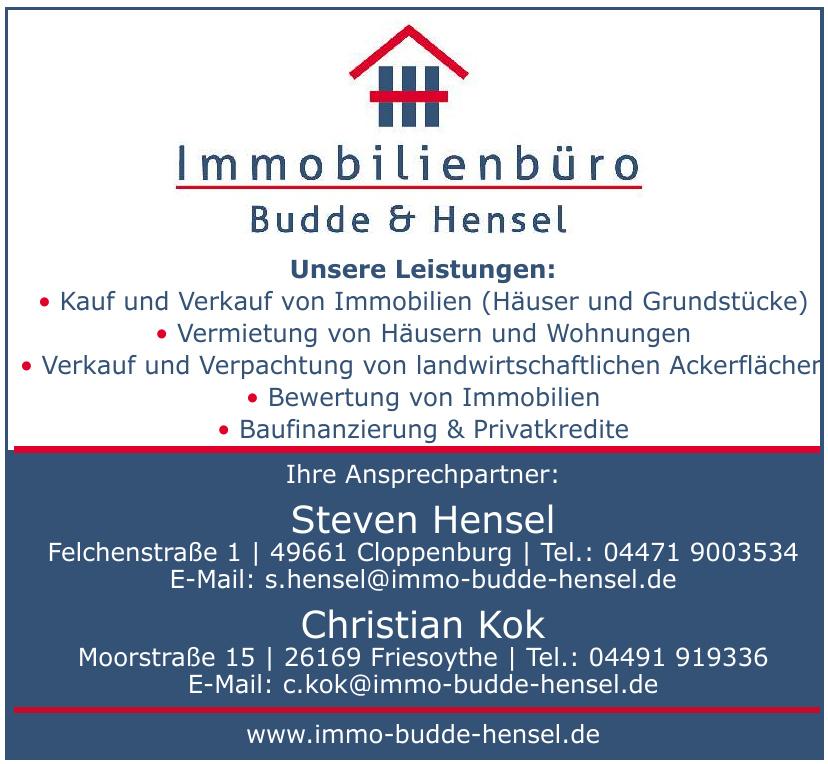 Immobilienbüro Budde & Hensel - Steven Hensel