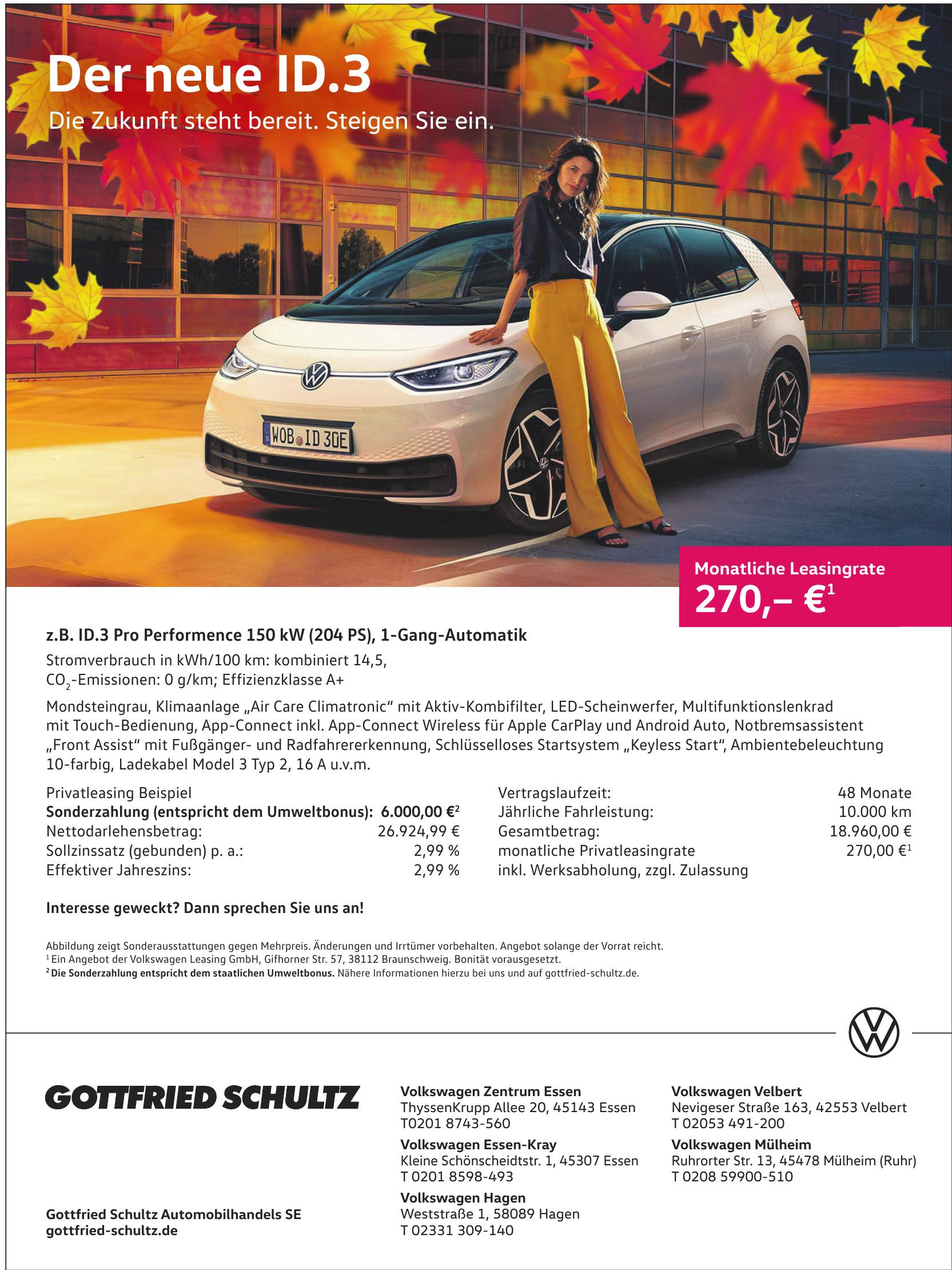 Gottfried Schultz Automobilhandels SE - Volkswagen Zentrum Essen
